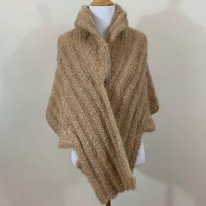 Vintage Creme Wool Cashmere Shawl